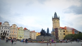 Old Town Square - Prague - Jan Huss monument