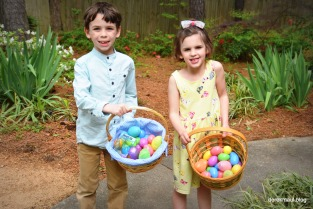 Gathering Easter eggs