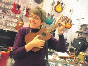 Rebekah gets her ukulele