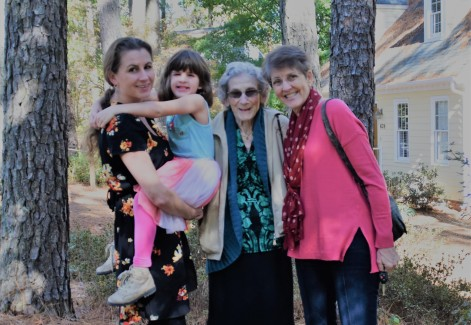 four generations: Grace, Rebekah, Naomi, Beks