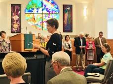 Rebekah receiving new members at WFPC