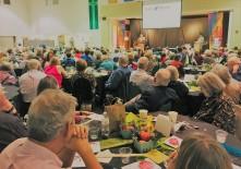 huge Thanksgiving hunger fundraiser at church