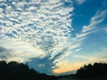 beautiful Wake Forest fall sky