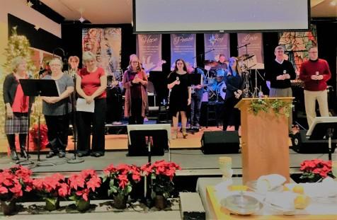 Praise Band leads at 9:00 worship