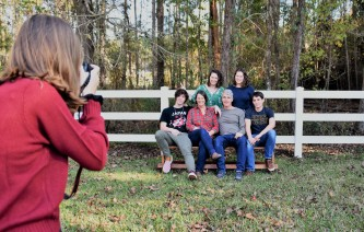 Jared's girlfriend Sam photographing the Jesse Alexander family