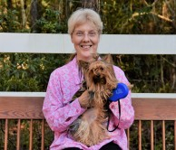 (cousin) Ruth Alexander with her pup