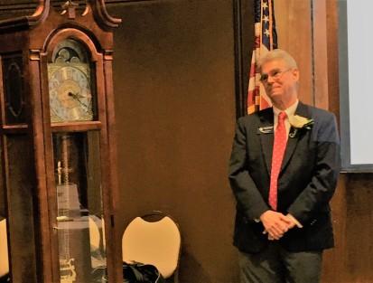 John's gift - retirement clock