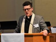 Brandon Melton reads scripture