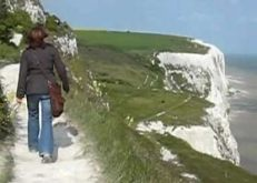 clifftop walk near Folkestone