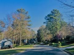 an adjacent street