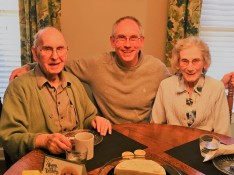 at supper with mum and dad