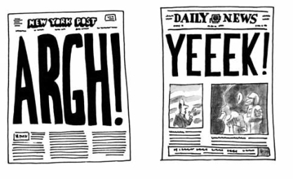 Comparing the headlines of three different New York based newspapers.