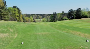 #18 tee box - severe downhill to green