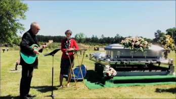 "singing ""I can only imagine"" at Cynthia's funeral"