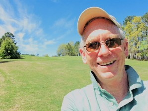 18th fairway - North Carolina-based author Derek Maul is excited because he just broke 80 for the first time in a long time!