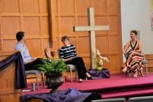 John, Rebekah, Katherine - setting the stage for worship