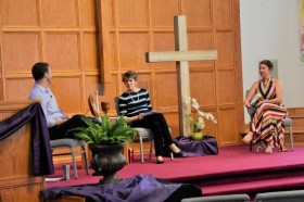 John, Rebekah, Katherine - setting the stage for worship