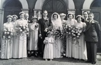 David and Grace Maul. Fred and Connie Maul (to dad's right). Lily and Arthur Kemp (to my mum's left)