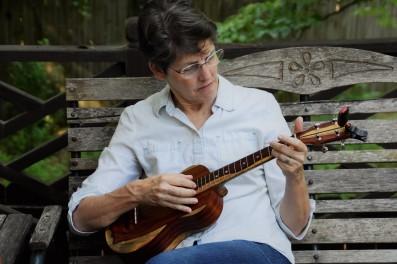 Rebekah's new Cocobolo ukulele