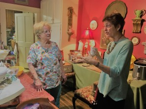talking with the B&B owner, Carol