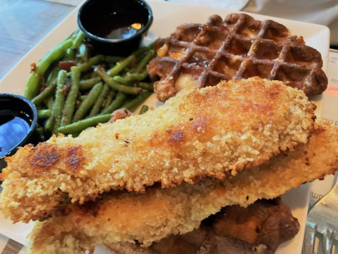 Chicken Waffles at The Chelsea
